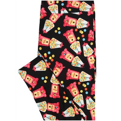 LuLaRoe TCTWO TC2 Gumball Machines Polka Dots Buttery Soft Leggings - TC2 fits Adults 18+