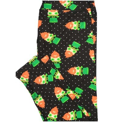 LuLaRoe TCTWO TC2 Leprechaun St Patrick Irish Polka Dot Buttery Soft Leggings - TC2 fits Adults 18+