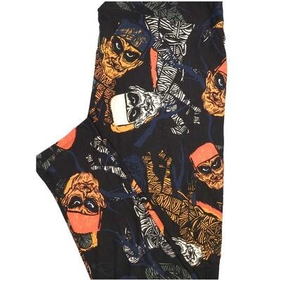 LuLaRoe TCTWO TC2 Halloween Frankenstein Mummy Buttery Soft Leggings - TC2 fits Adults 18+