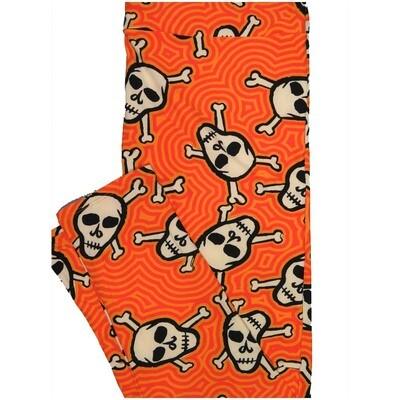 LuLaRoe TCTWO TC2 Skull Crossbones Maze Trippy Halloween Buttery Soft Leggings - TC2 fits Adults 18+
