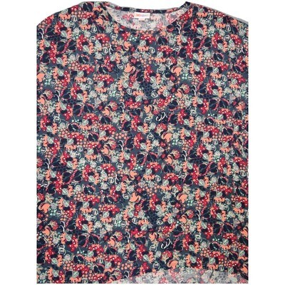 LuLaRoe Irma Tunic Small S Disney Minnie Mouse Blue Gray Pink Red White Ppp