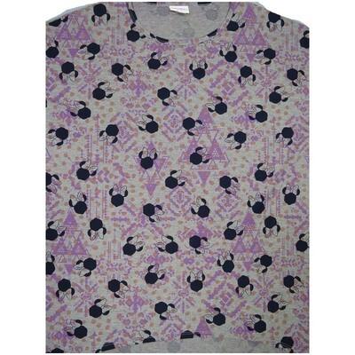 LuLaRoe Irma Tunic Small S Disney Minnie Mouse Gray Lavender Pink Black Ppp