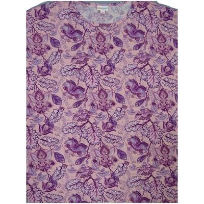 LuLaRoe Irma Tunic Small S Floral Light Pink Lavender Purple Ppp