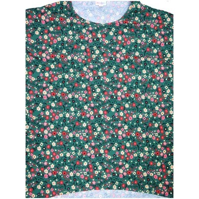 LuLaRoe Irma Tunic Small S Floral Dark Green Pink Off White Ppp