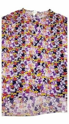 LuLaRoe Irma Tunic Small S Disney Mickey Mouse Purple Black Red White Ppp