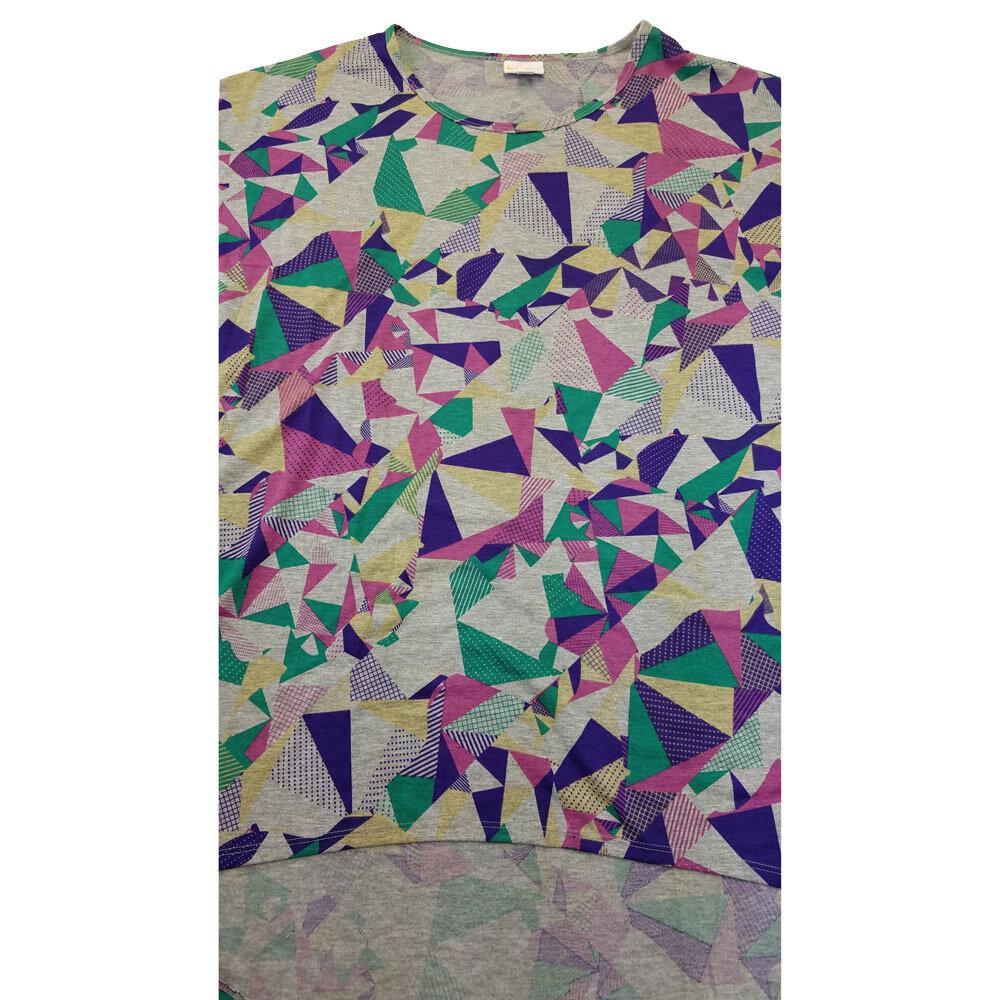 LuLaRoe Irma Tunic X-Large XL Geometric Gray Purple Green Blue fits Women 20-22