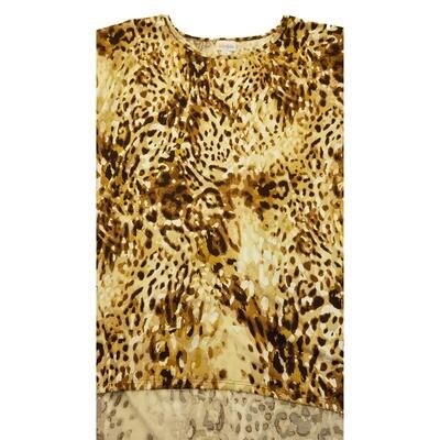 LuLaRoe Irma Tunic XX-Large 2XL Animal Cheetah Peopard Pattern Yellow Tan fits Womens 24-26