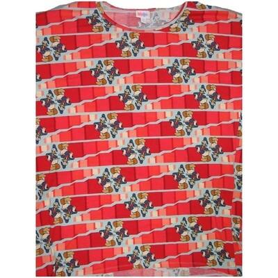 LuLaRoe Irma Tunic XX-Large 2XL Disney Donald Duck Red Light Blue White fits Womens 24-26