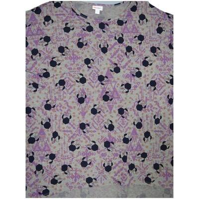 LuLaRoe Irma Tunic XX-Large 2XL Disney Minnie Mouse Light Gray Lavender Black fits Women 24-26