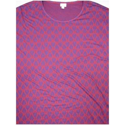 LuLaRoe Irma Tunic XX-Large 2XL Dark Purple Geometric fits Womens 24-26