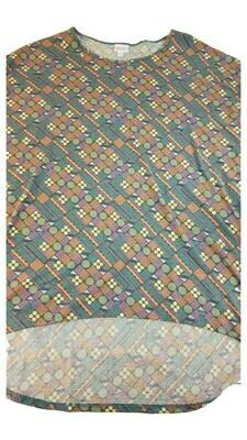 LuLaRoe Irma Tunic XX-Large 2XL Circles Multicolor fits Women 24-26