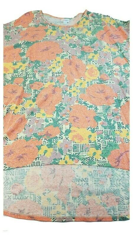 LuLaRoe Irma Tunic XX-Large 2XL Multicolor Geometric Floral fits Womens Sizes 24-26