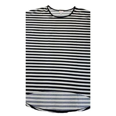 LuLaRoe Irma Tunic XX-Large 2XL Stripe Black White fits Womens 24-26