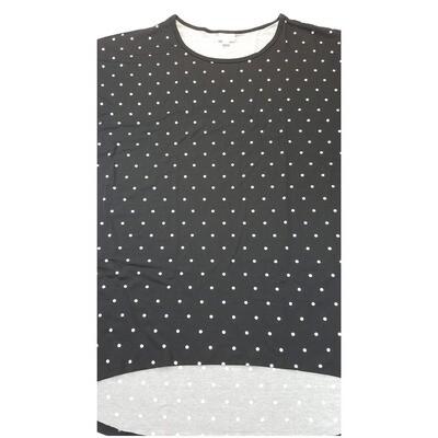 LuLaRoe Irma Tunic XX-Large 2XL Polka Dot Black White fits Womens 24-26