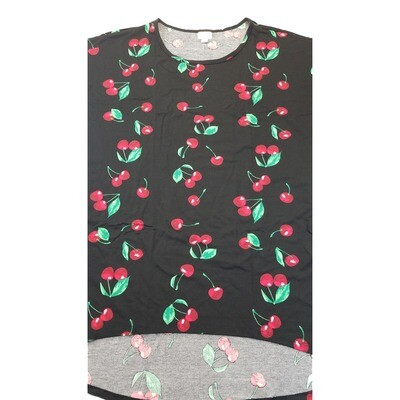 LuLaRoe Irma Tunic XX-Large 2XL Cherries Black Red Green fits Womens 24-26