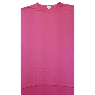 LuLaRoe Irma Tunic XX-Large 2XL Solid Dark Pink fits Womens 24-26