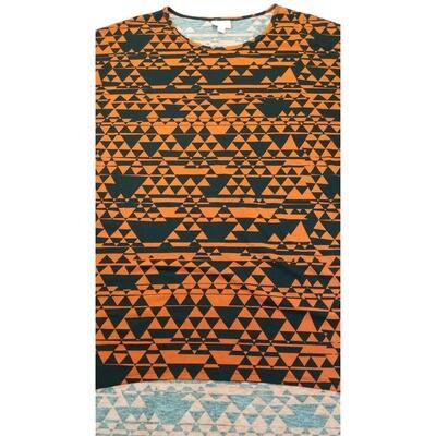 LuLaRoe Irma Tunic XX-Large 2XL Geometric Black Pumpkin Orange fits Womens 24-26
