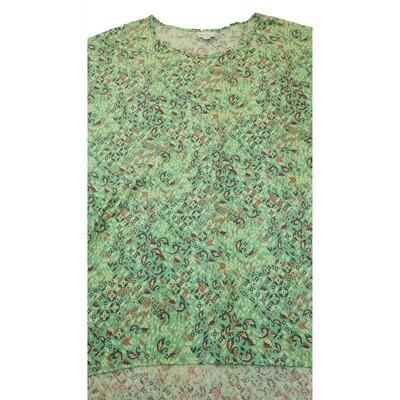 LuLaRoe Irma Tunic XX-Large 2XL Geometric Floral Light Green Yellow fits Womens 24-26
