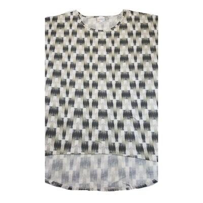 LuLaRoe Irma Tunic X-Large XL Trippy 70s Geometric Black White Gray fits Women 20-22
