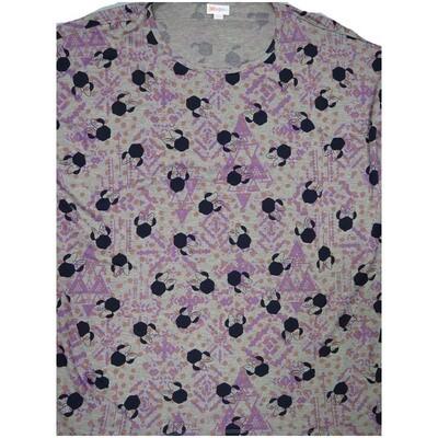 LuLaRoe Irma Tunic X-Large XL Disney Minnie Mouse Gray Lavender Black fits Women 20-22