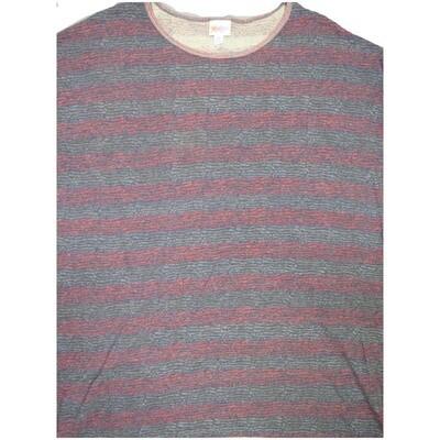 LuLaRoe Irma Tunic X-Large XL Stripe Dark Gray Red fits Women 20-22