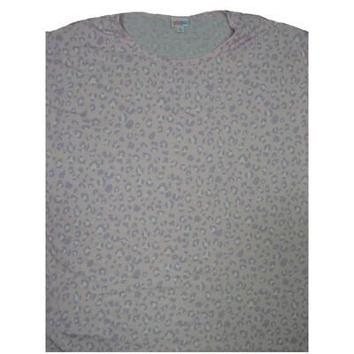 LuLaRoe Irma Tunic X-Large XL Cheetah Pattern Light Pink Gray fits Women 20-22