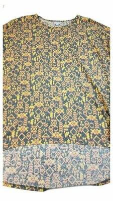 LuLaRoe Irma Tunic X-Large XL Multicolor Geometric Floral fits Womens Sizes 20-22