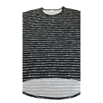 LuLaRoe Irma Tunic X-Large XL Stripe Black White fits Women 20-22