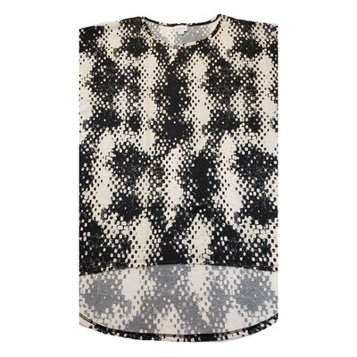 LuLaRoe Irma Tunic X-Large XL Trippy 70s Geometric Off White Black fits Women 20-22