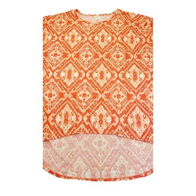 LuLaRoe Irma Tunic X-Large XL Burnt Orange Cream Geometric fits Women 20-22