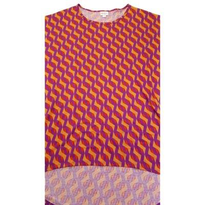 LuLaRoe Irma Tunic X-Large XL Stripe Purple Orange fits Women 20-22