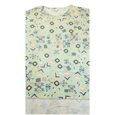 LuLaRoe Irma Tunic X-Large XL Geometric Light Mint Green Gray Lavender fits Women 20-22