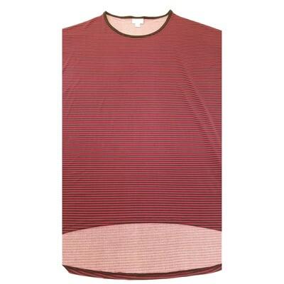 LuLaRoe Irma Tunic Medium M Stripe Mini Dark Pink Black Ppp