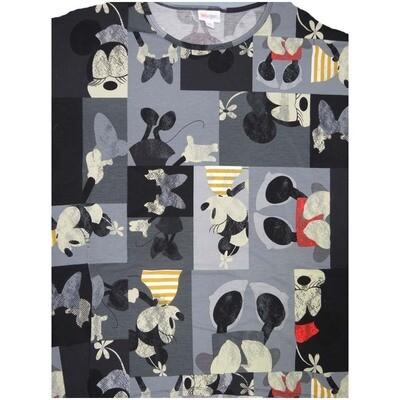 LuLaRoe Irma Tunic Medium M Disney Minnie Black White Gray Yellow Red Ppp