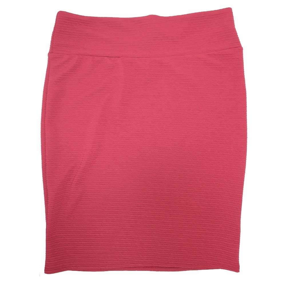 Cassie XXX-Large (3XL) LuLaRoe Solid Cranberry Womens Knee Length Pencil Skirt Fits 24-26