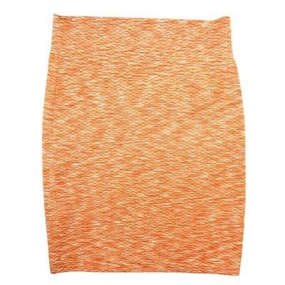 Cassie XX-Large (2XL) LuLaRoe Heather Red Solid Diamond Grid Orange Womens Knee Length Pencil Skirt Fits 22-24