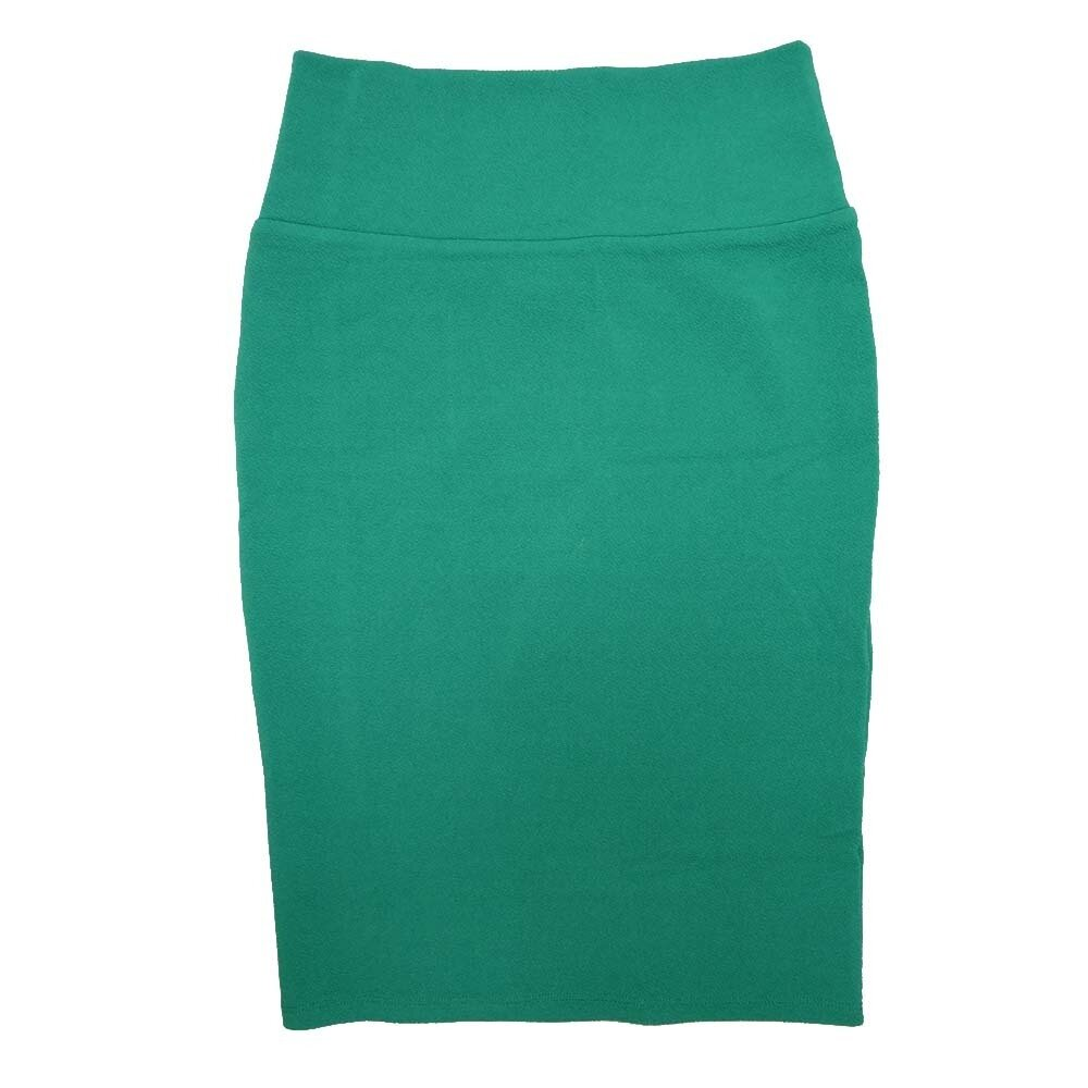 Cassie X-Small (XS) LuLaRoe Solid Dark Teal Womens Knee Length Pencil Skirt Fits 2-4