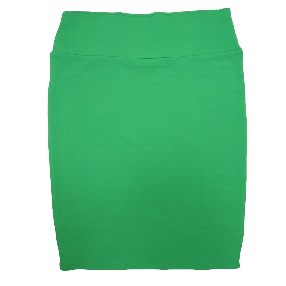 Cassie X-Large (XL) LuLaRoe Solid Green Womens Knee Length Pencil Skirt Fits 18-20