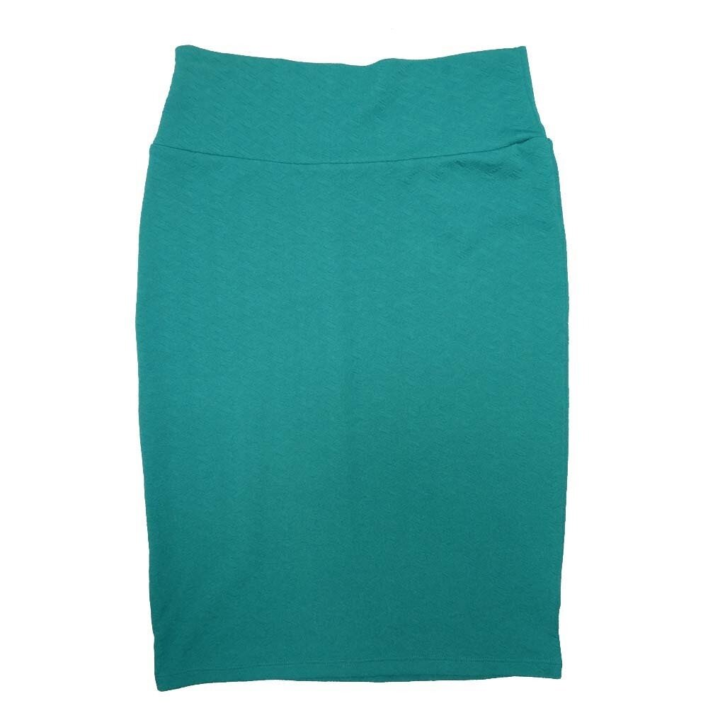 Cassie Small (S) LuLaRoe Solid Turquoise Womens Knee Length Pencil Skirt Fits 6-8