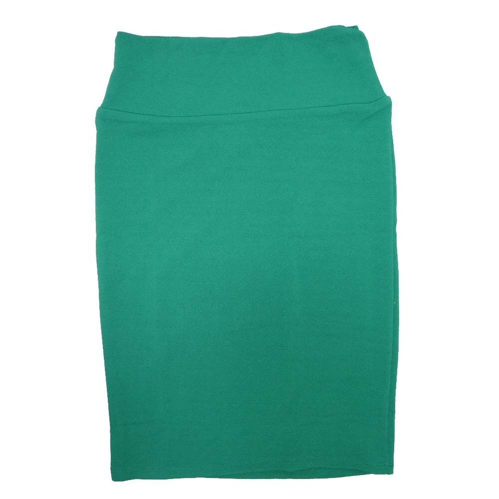 Cassie Small (S) LuLaRoe Solid Green Womens Knee Length Pencil Skirt Fits 6-8