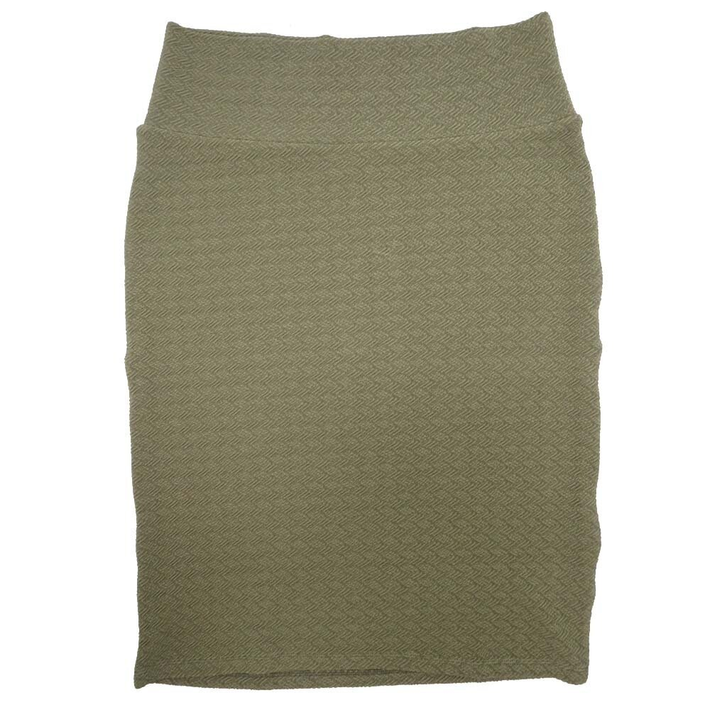 Cassie Large (L) LuLaRoe Solid Olive Green Womens Knee Length Pencil Skirt Fits 14-16