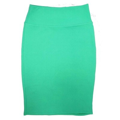 Cassie Small (S) LuLaRoe Solid Mint Green Womens Knee Length Pencil Skirt Fits 6-8