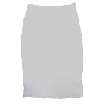 Cassie X-Small (XS) LuLaRoe Solid White Womens Knee Length Pencil Skirt Fits 2-4