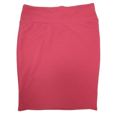 Cassie XXX-Large (3XL) LuLaRoe Solid Cranberry Womens Knee Length Pencil Skirt Fits 24-26