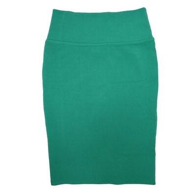 Cassie X-Small (XS) LuLaRoe Solid Dark Teal Womens Knee Length Pencil Skirt Fits 2-4
