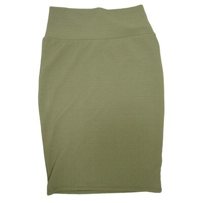 Cassie Small (S) LuLaRoe Solid Olive Womens Knee Length Pencil Skirt Fits 6-8