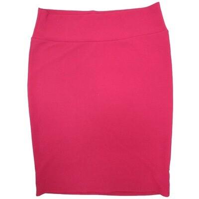 Cassie XXX-Large (3XL) LuLaRoe Solid Wine Womens Knee Length Pencil Skirt Fits 24-26