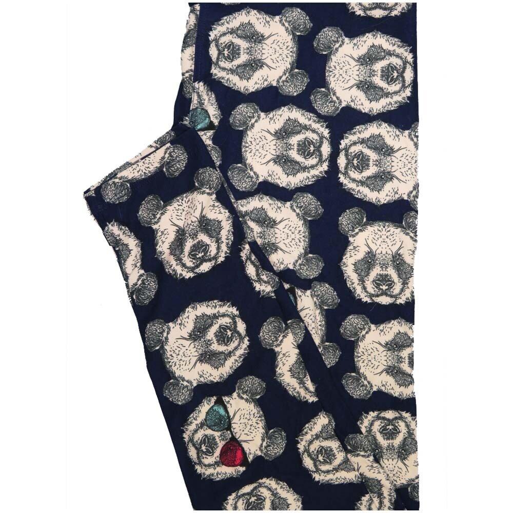LuLaRoe One Size OS Panda Bear Black White Leggings (OS fits Adults 2-10)
