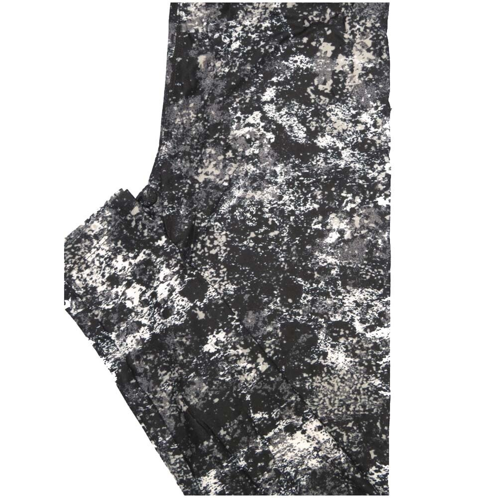 LuLaRoe One Size OS Mottled Abstract Geometric Black White Gray Leggings (OS fits Adults 2-10)