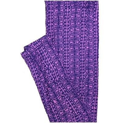 LuLaRoe One Size OS Stripe Purple Blue Leggings (OS fits Adults 2-10)